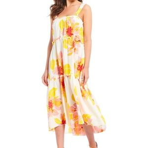 Free People Sun Dress Moonshine Linen Floral S